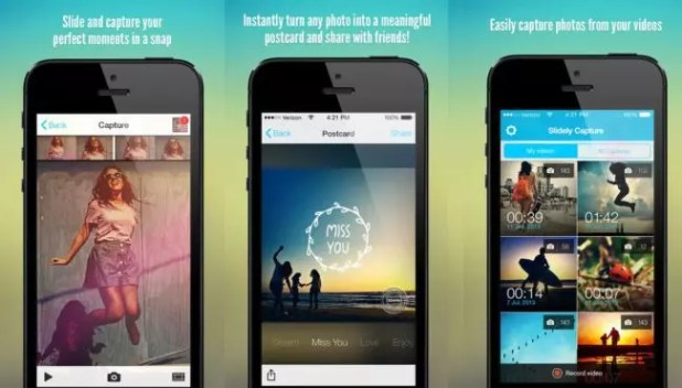 Imagen de Slidely Capture -Photos & Collages From Your Videos