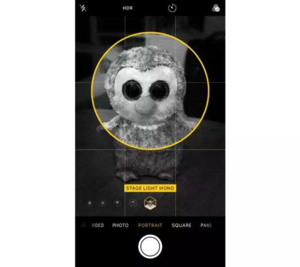 modo retrato del iPhone X