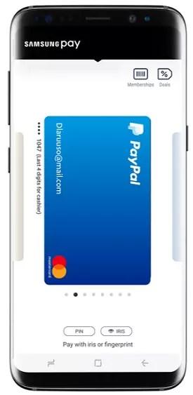 Añadiendo Paypal a Samsung pay