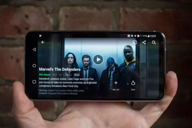 móviles semejantes con HDR en Netflix