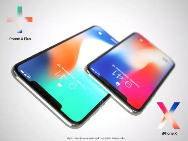 pantalla del iPhone X Plus