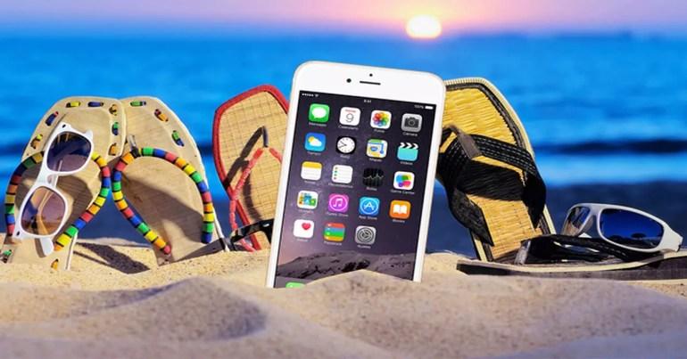 iPhone en la playa