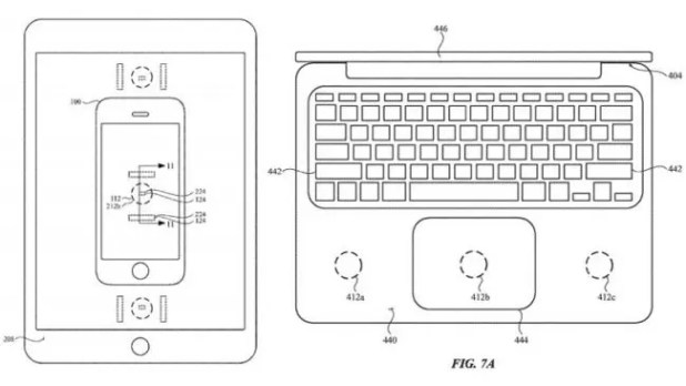 Carga inalambrica-iPhone X-iPad, Macbook-patente