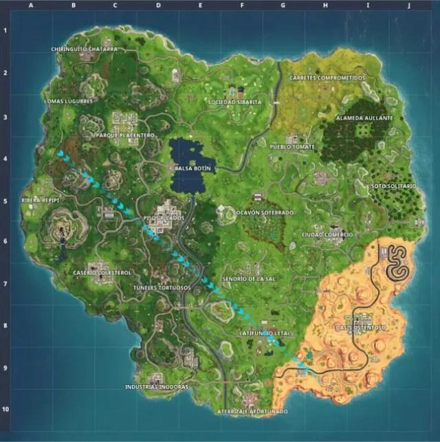 Temporada 5 de Fortnite-mapa