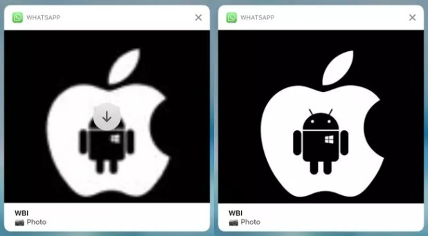 WhatsApp para iPhone, notificaciones-imagenes