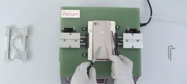 Proceso de reparación del cristal roto de un <stro data-recalc-dims=
