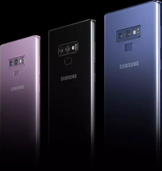 Colores disponibles para el Samsung℗ Galaxy℗ Note 9
