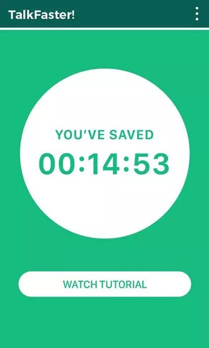 Tiempo ganado al usar TalkFaster