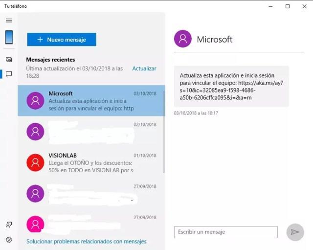 Escribir SMS desde el PC con la app Tu Teléfono