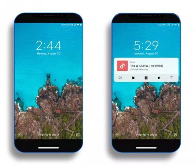 Pantalla de bloqueo de un tema para smartmoviles Xiaomi