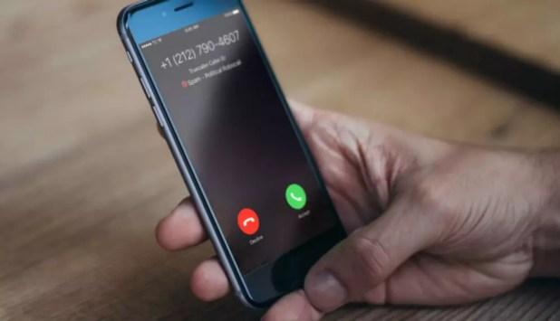 Llamada de spam en un iPhone