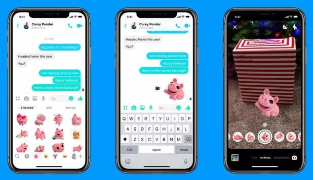 Nuevos AR Stickers para Facebook Messenger