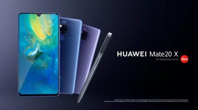 Huawei Mate 20 X con soporte para stylus