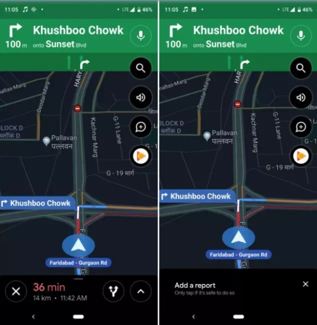 alerta accidente google maps