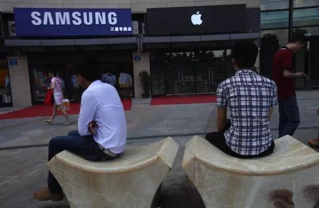 Samsung Apple tiendas