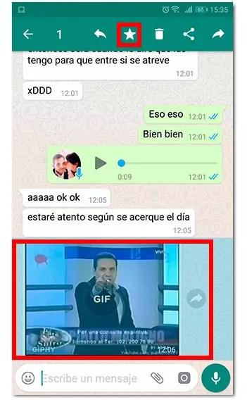 mensaje destacado whatsapp