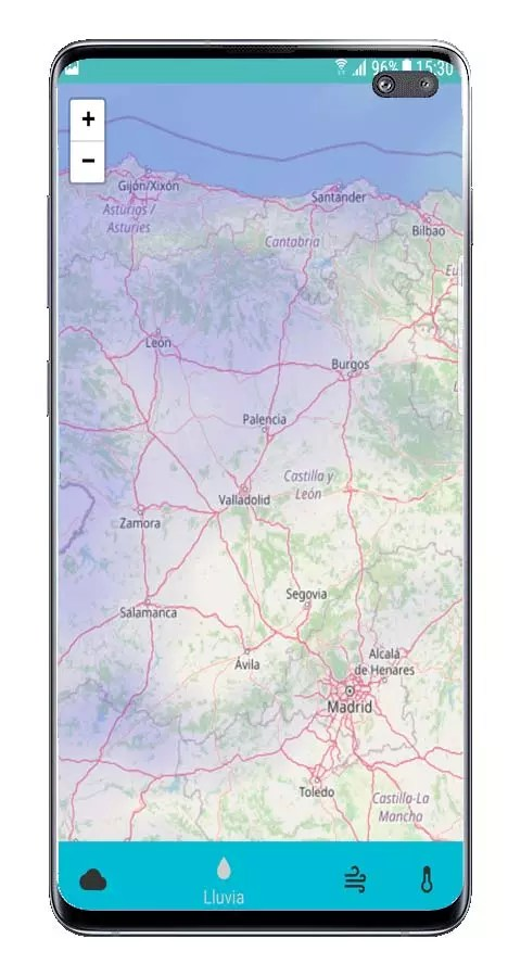 Mapas lluvias de Forecastie