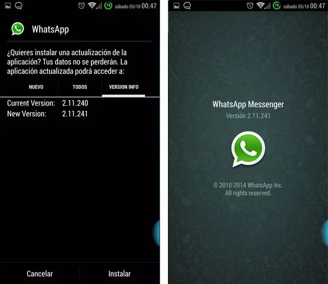 Version beta de WhatsApp