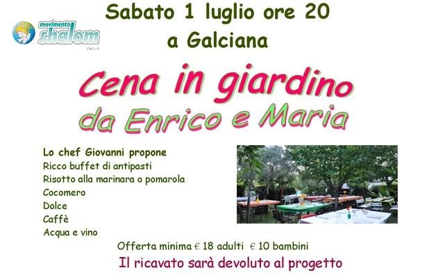 Cena a Galciana sabato 1 luglio