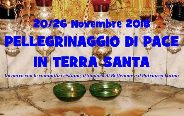Pellegrinaggio di pace in Terra Santa dal 20 al 26 novembre