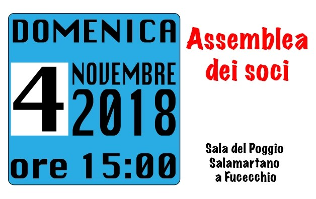 Assemblea dei soci – 4 novembre 2018