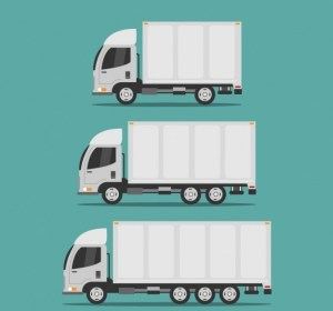 Three different-sized moving trucks - pick the right one for moving to Englewood NJ.