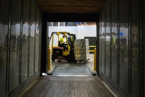 Forklift storage unit