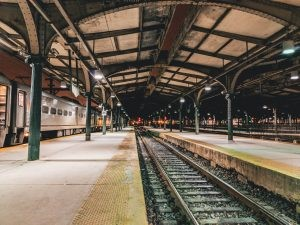 Train station, important among the best places in New Jersey to retire to.