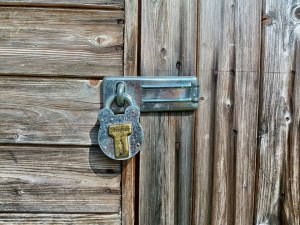 Consider installing a storage alarm system before using a lock and key
