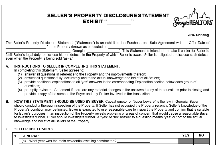 28+ Sellers Disclosure Form | Seller Property Disclosure Oregon ...