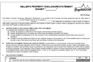 Seller's Property Disclosure Statement