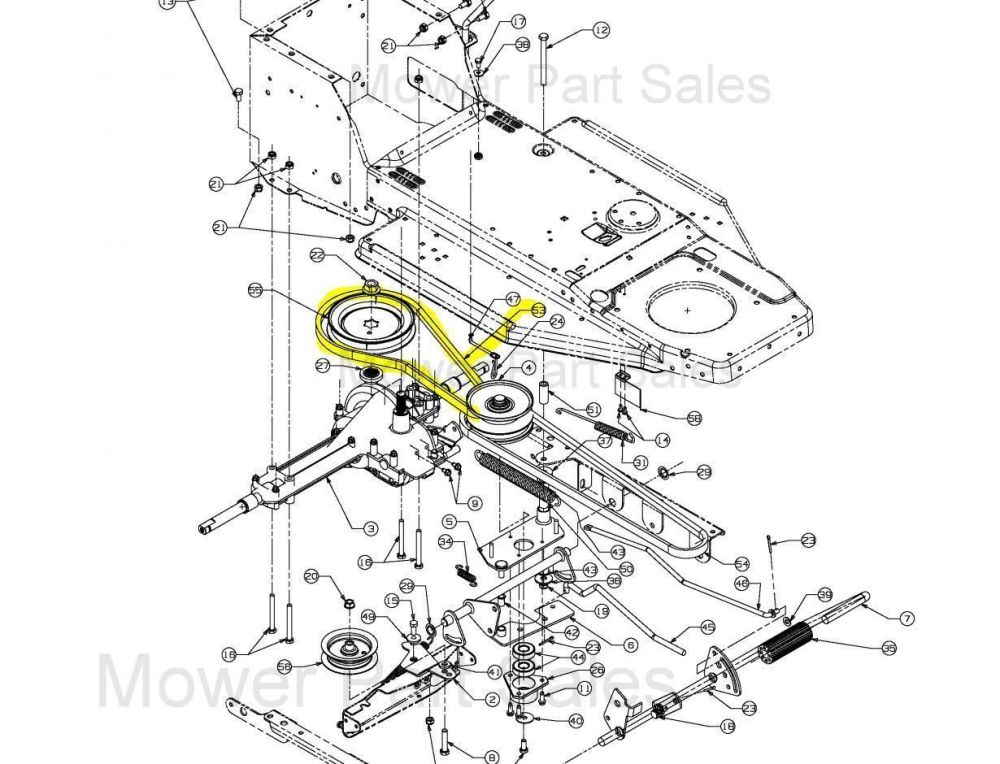 medium resolution of mtd variable speed pulley to the gearbox belt fits rh 115 76 603 754 04038
