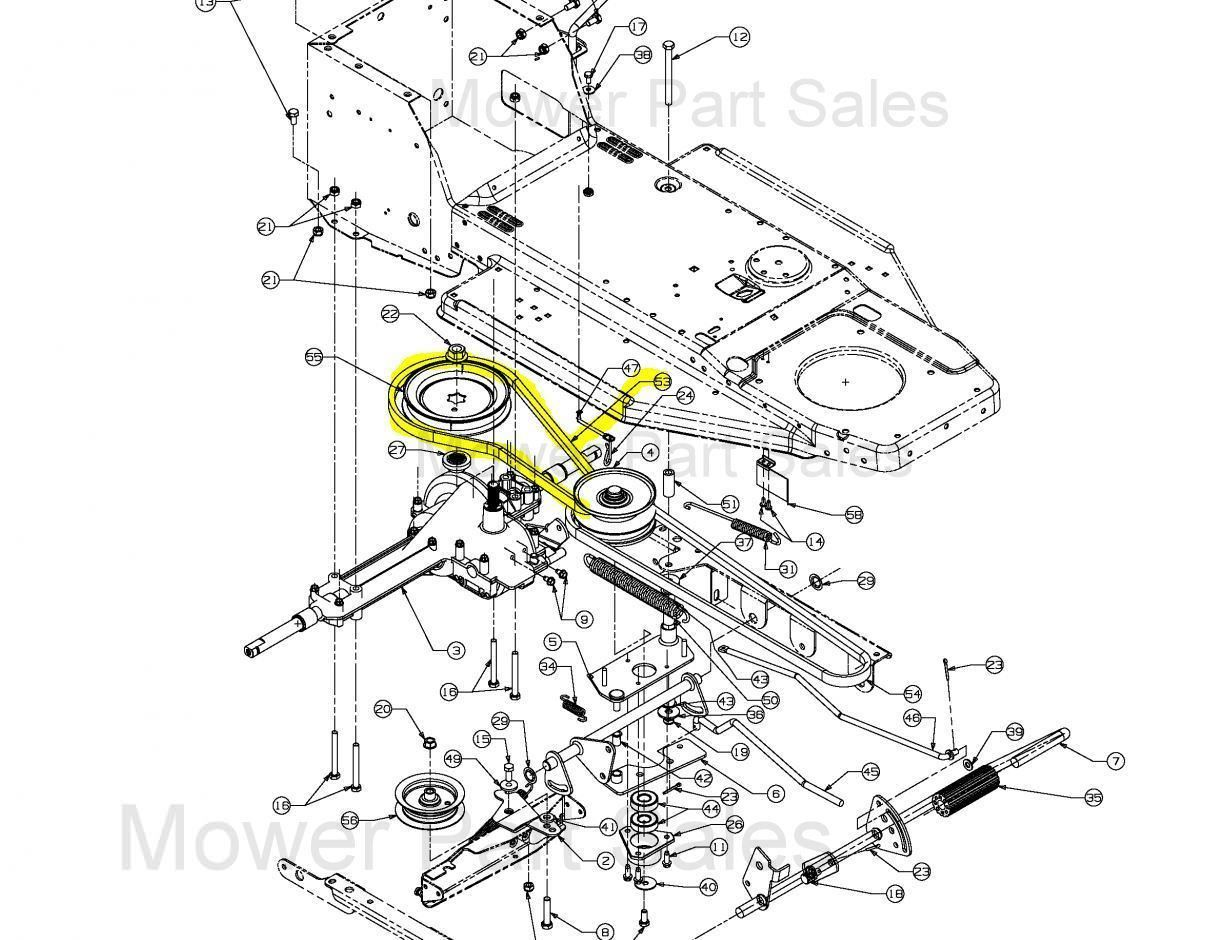 hight resolution of mtd variable speed pulley to the gearbox belt fits rh 115 76 603 754 04038