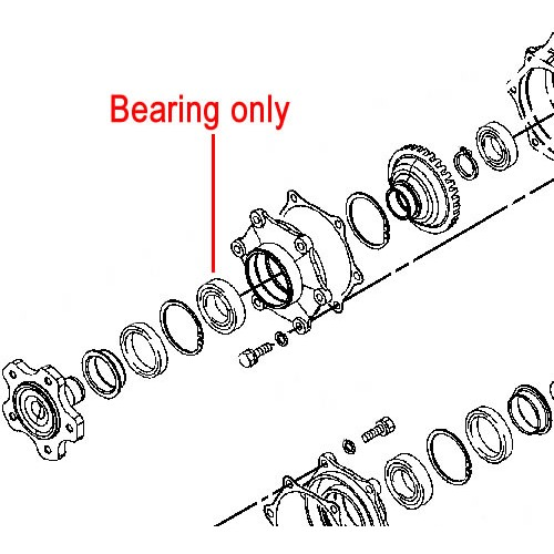 John Deere Ball Bearing (Differential/Final Drive) CH14581