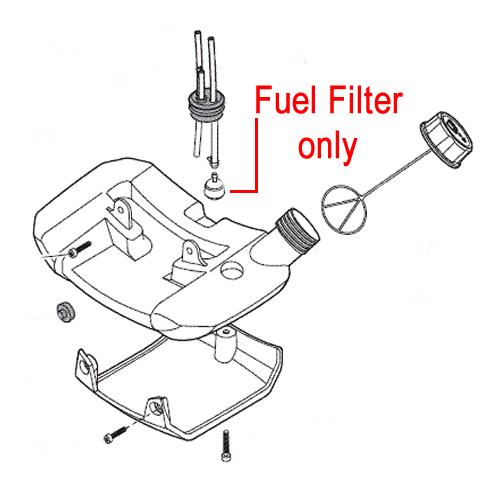 Mountfield Fuel Filter Brushcutter Trimmer 183520005/0