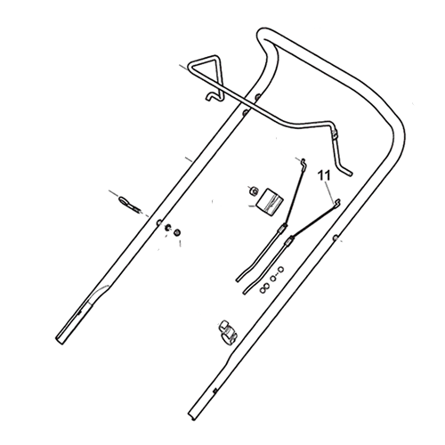 Mountfield Clutch Cable fits SP414, SP416 p/n 381030080/0