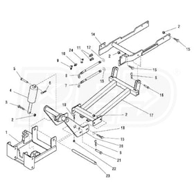 Simplicity 1694395 Hitch/Subframe For Front Attachments