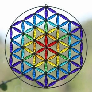 la flor de la vida de geometria sagrada