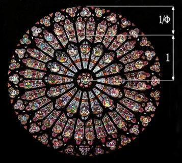 la proporción aurea en los vitrales