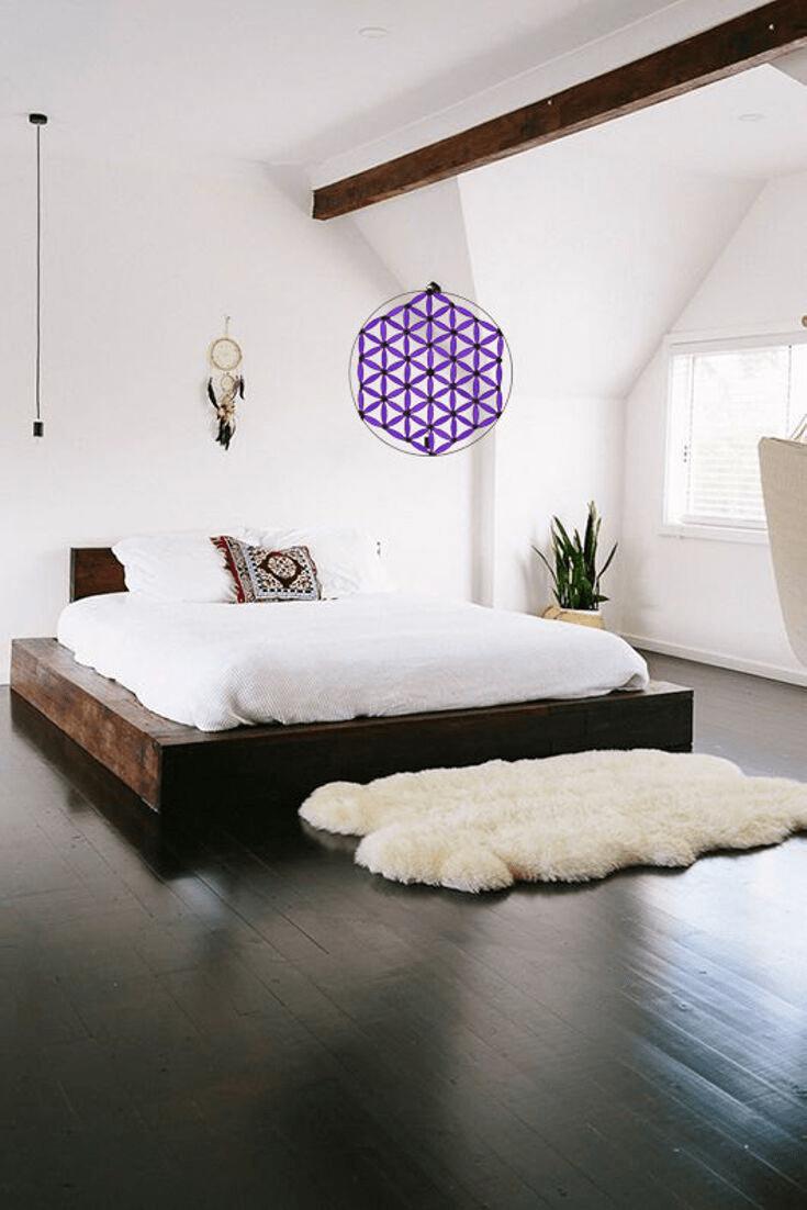 Flor de la vida armonizando una habitacion Ajna