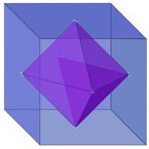 solidos platonicos hexaedro y su dual octaedro