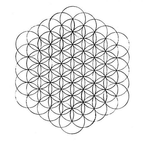 como dibujar flor de la vida completa