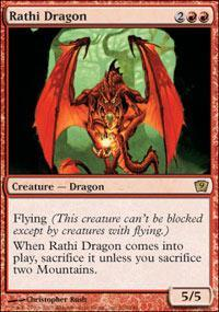 red dragon  Magic The Gathering Deck