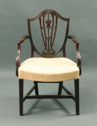 Antique Hepplewhite shield back arm chair - Stock ...