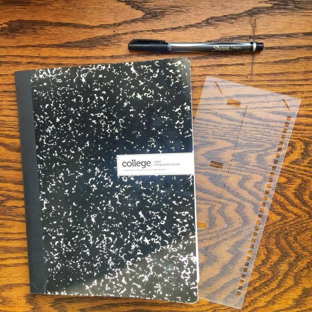 Composition Notebook Stencil