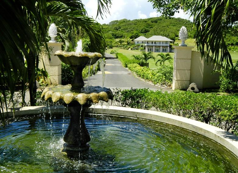 Cotton House fountain
