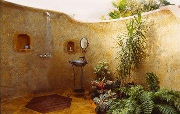 Cottage outside shower room