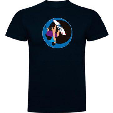 Camiseta niños Azul Marino Kite surfing handle pass