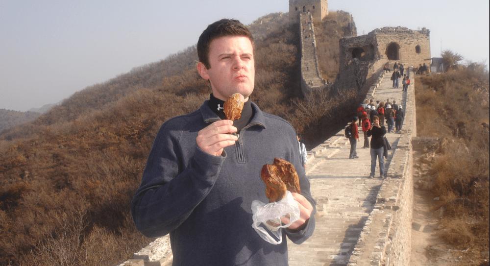 snack time @ great wall
