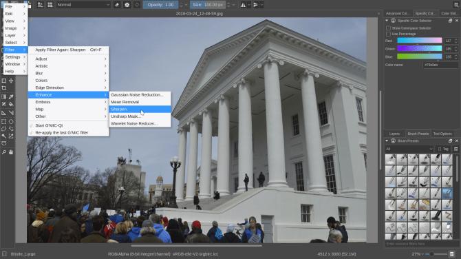 wie man Krita vs GIMP benutzt - Verbesserungen